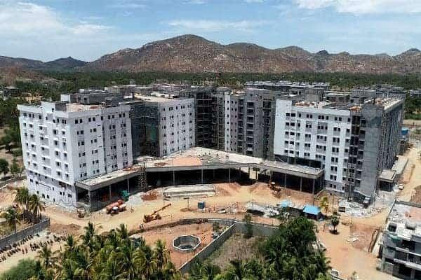 Kannigapuram campus May 2020 from above