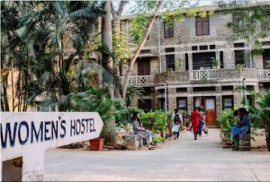 front entrance into the women's hostel bagayam