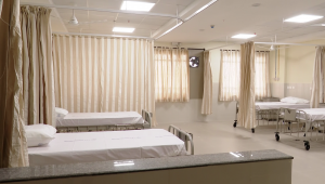 new wards in kannigapuram for CoVid patients. beds made and ready to use