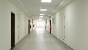 empry corridor before CoVid patients arrive