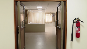 doors into a ward waiting as Kannigapuram opens for CoVid patients