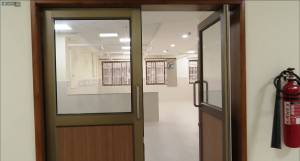 doors into a empty ward waiting to be made ready as Kannigapuram opens for CoVid patients