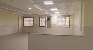 ward with no beds yet and no curtains on inauguration day. Kannigapuram opens for CoVid patients in june