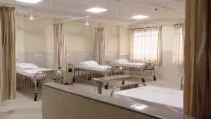 ward ready for patients with beds, mattresses and bedding in Kannigapuram ready for CoVidKannigapuram opens fo patients