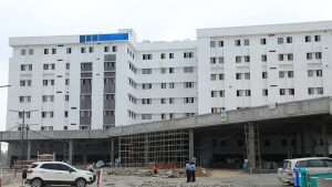 front of Kannigapuram hospital May 2020