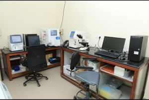 Laboratory set up to do the tests on patients that come to Kannigapuram when it first opens