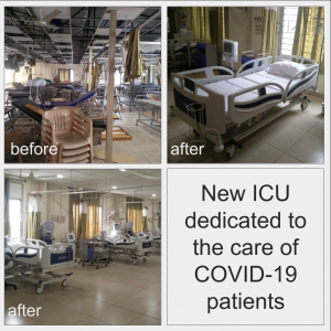 s ward converted from a terrace to ICU for CoVid