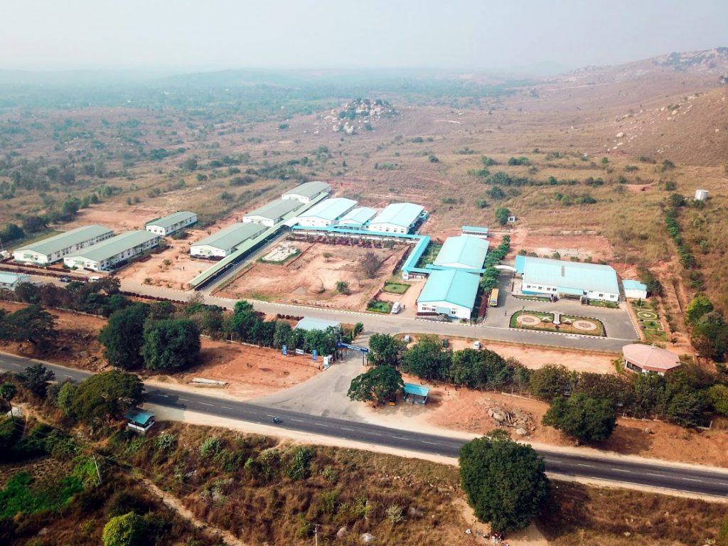 Aeiral view of chittoor hospital in 2020