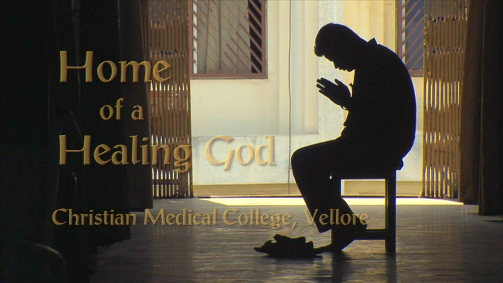 The front cover of the Home of a Healing God DVD a man praying