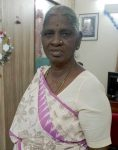Raji amma after the cancer care she received at CMC Vellore