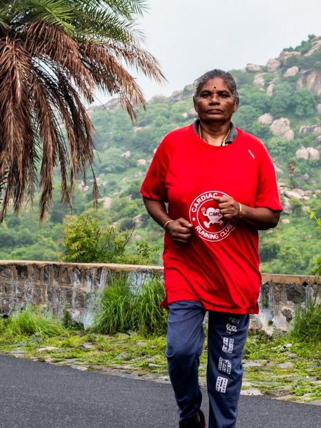 Rani with the cardiac rehab running club 2019