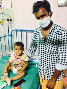 baby vishal has started chemotherapy for his blood cancer at CMC Vellore