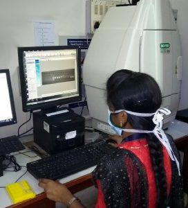Research work in th emedical genetics laboratory
