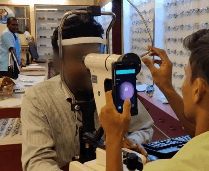 the Glasses clinic at the base site - schell hospital and diabetic retinopathy screening