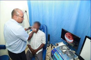 Endoscipy done by an ENT doctor at Chittoor