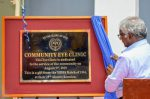 Donation plaque making the opening of the eye clinic at RUHSA