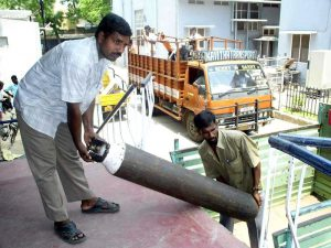 oxygen cylinder delivered by truck to CMC back in 2005. thank you for Joining CMC in fighting the COVID-19 pandemic and donating so we can buy oxygen cylinders