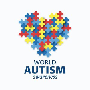 world autism day - world autism awareness heart logo