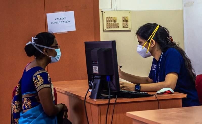 COVID vaccine consultation desk