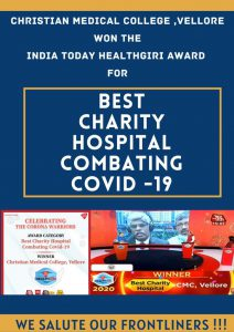 CMC wins the best chairty hospital combating COVID 19