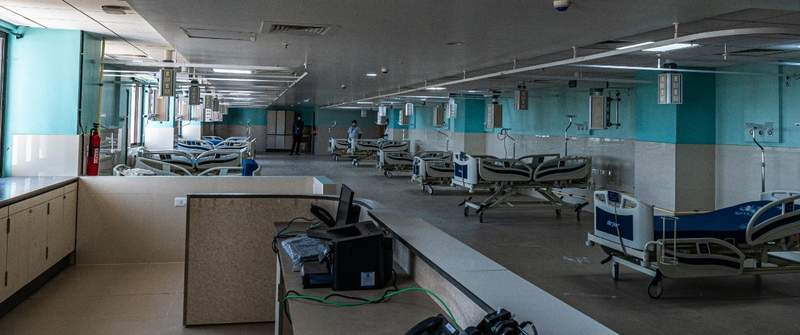 new ICU beds at Kannigapuram May 2021 2bd wave surge CMC Vellore. more equipment to be put in